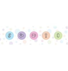 5 liquid icons vector