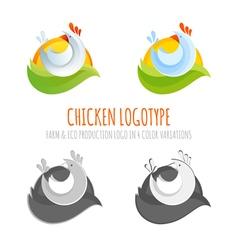 a collection farm chicken icons vector image