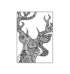 abstract deer vector image