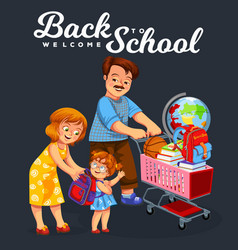 back to school shopping poster vector image