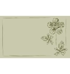 Background frame buttercup vector image