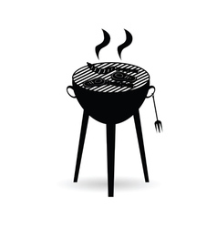 Barbecue grill black vector