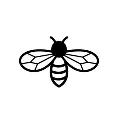 Bee icon design template vector