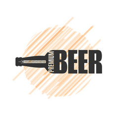 beer bottle logo design om white background vector image