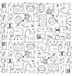 Big doodles school education vector