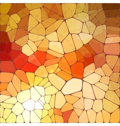 Bright orange shining mosaic vector