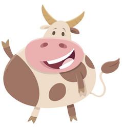 bull cartoon farm animal character vector image