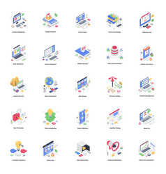 Business isometric pack vector