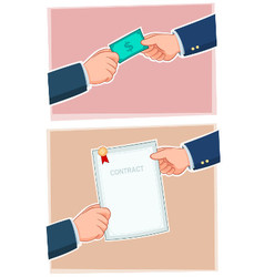 Businessman Exchanging vector image