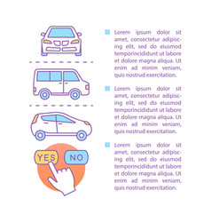 car rental article page template vector image