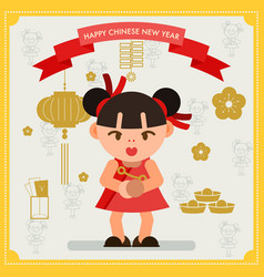 Chinese new year design elements template vector