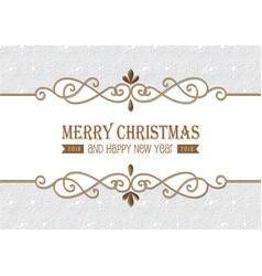 christmas gold frame vector image