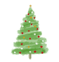 Christmas tree1 vector