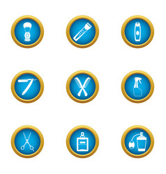 clipping icons set flat style vector image