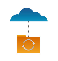 cloud computing folder vector image