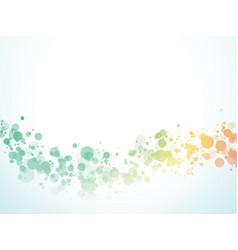 color wave bubbles background vector image