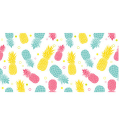 colorful pineapples summer tropical vector image