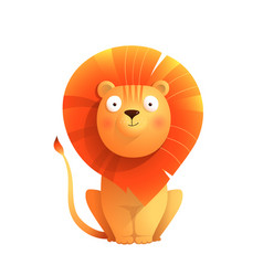 cute baby lion sitting isolated clipart vector image