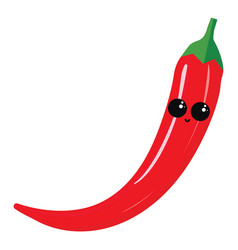 cute hot pepper on white background vector image