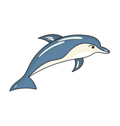 dolphin icon in cartoon style isolated on white vector image