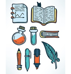 Education objects vector