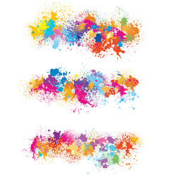 Elements for design from paint stains vector