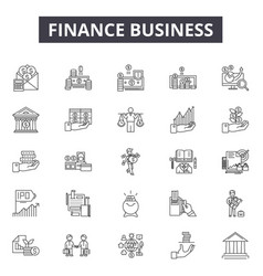 finance business line icons for web and mobile vector image