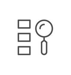 finding option line outline icon vector image