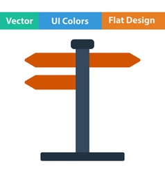 Flat design icon of pointer stand vector image