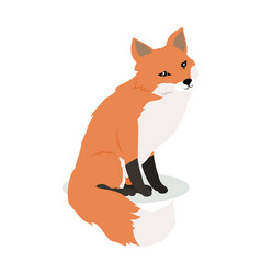 Fox cartoon in flat design vector