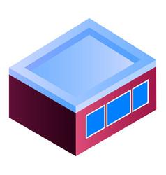 garage building icon isometric style vector image