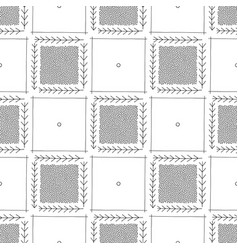 hand drawn abstract seamless pattern geometrical vector image