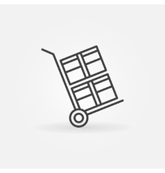 Handcart linear icon vector