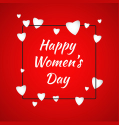 Happy women day cover template vector