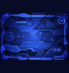 Hi-tech digital technology and engineering vector
