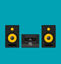 home stereo theater music cartoon music system vector image