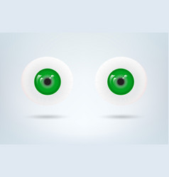 Human green eyes balls pupil medical visual vector