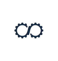 Infinity gear logo icon design vector