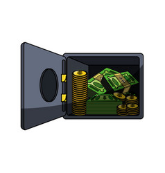 Isolated money security box vector