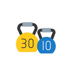 Kettle bell icon flat design for sport logo vector
