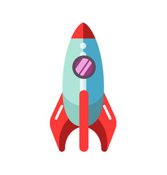 kid toy children plaything rocket spaceship vector image