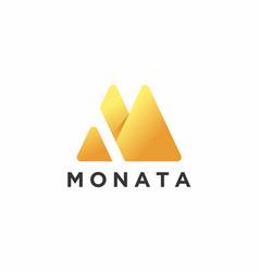 Letter m logo monogram vector