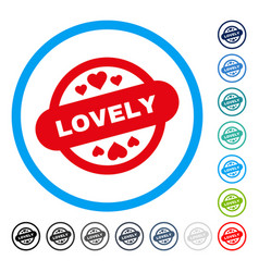 lovely stamp seal rounded icon vector image