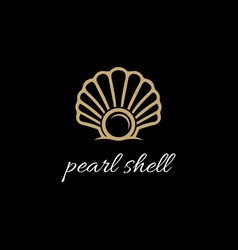 luxury beauty elegant pearl jewelry seashell vector image