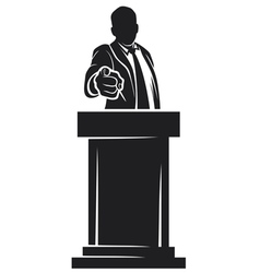 Man giving speech vector