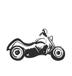 motorcycle icon in doodle sketch lines sport vector image
