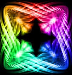 Multicolored pattern on the black background vector image