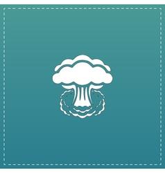 Mushroom cloud nuclear explosion silhouette vector image
