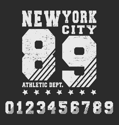 new york city t shirt print design vector image