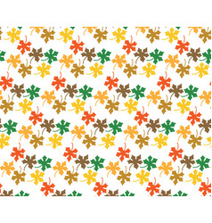 pattern from leaves of maple vector image